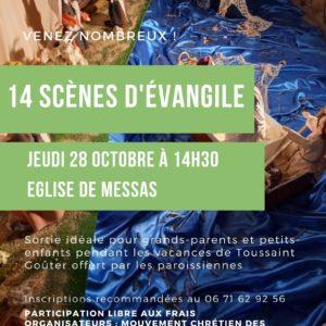 Exposition à l'église de Messas : 14 scènes d'évangile